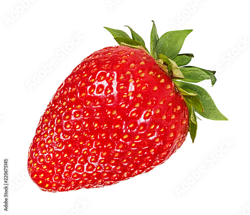 Foto op Aluminium Vruchten Fresh strawberry isolated on white background with clipping path