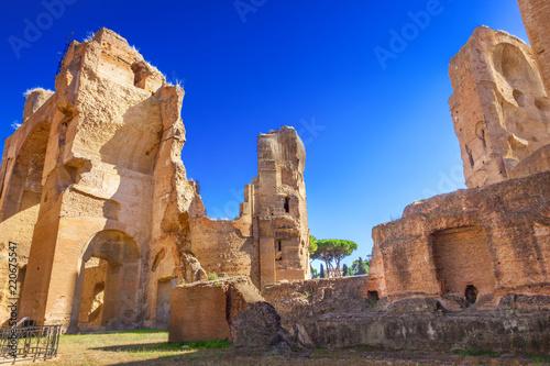 Deurstickers Centraal Europa Thermae of Caracalla