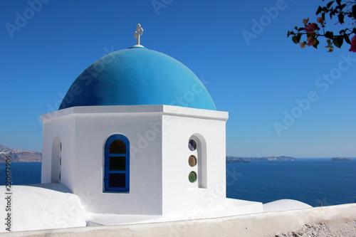Dôme bleu, Santorin