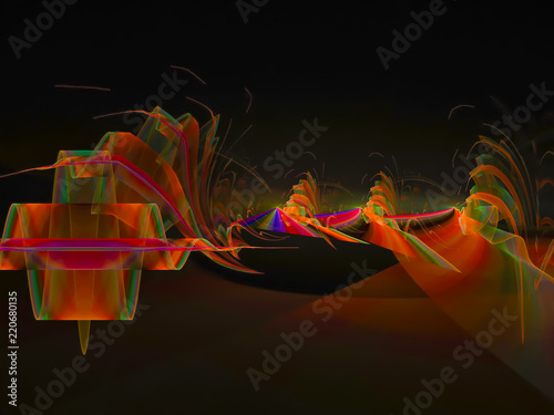 abstract fractal color digital background, design creative