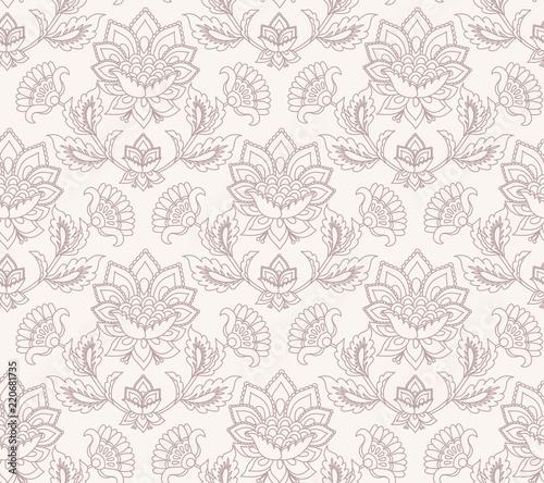 Fotografie, Obraz  Jacobean floral pattern, meadow flowers background