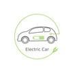 Eco electric car .Electric car concept -vector illustration