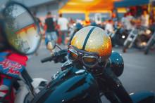 Casco Da Moto Biker Con Specch...