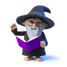 Vector 3d Funny Cartoon Wizard...