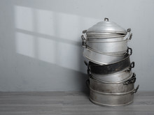 Old Stainless Steel Steamer Po...