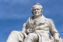 Alexander Von Humboldt Statue Outside Humboldt University From 1883 By Reinhold Begas, Berlin, Germany, Sunny Day