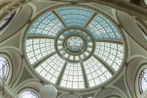 Fotografie, Obraz  Historic steel and glass arched dome and skylight in a San Francisco shopping ma