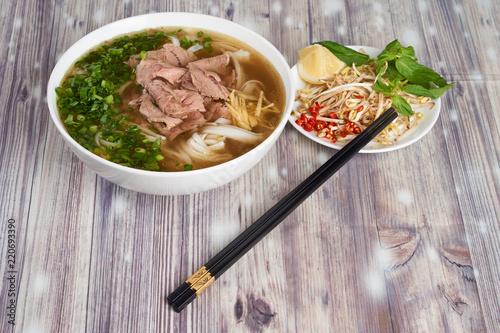Vietnamese noodle soup Pho bo