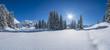 canvas print picture - Winter in den Alpen