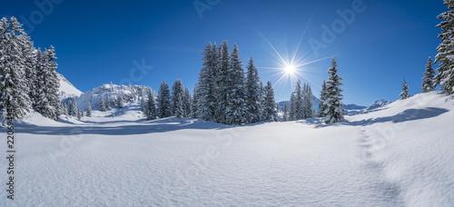Plakat Zima w Alpach
