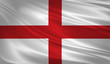 England flag blowing in the wind. Background texture. 3d rendering, wave.