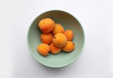 Apricots In Green Bowl Close U...