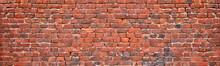 Brick Wall Texture, Background Of Old Brickwork.