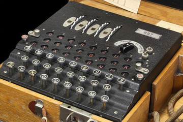 Enigma message encryption machine
