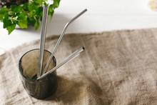 Eco Natural Metallic Straws In...