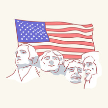 USA Founding Fathers Flag Hand...