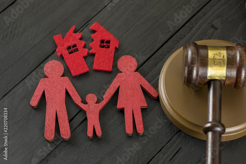 Divorce Concept ,Divide House and Family