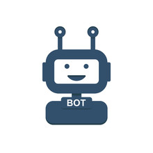Chat Bot Icon Background. Virtual Assistant For Website. Chat Bot Concept For Customer Service. Vector.