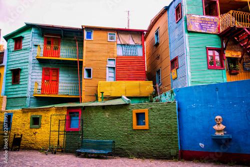 Montage in der Fensternische Buenos Aires Caminito