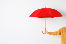 Person Holding Open Umbrella O...