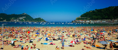Slika na platnu Bahía de la Concha (Kontxa) - San Sebastian (Donostia)