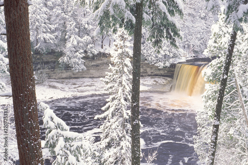 Tahquamenon Falls Michigan, Winter.