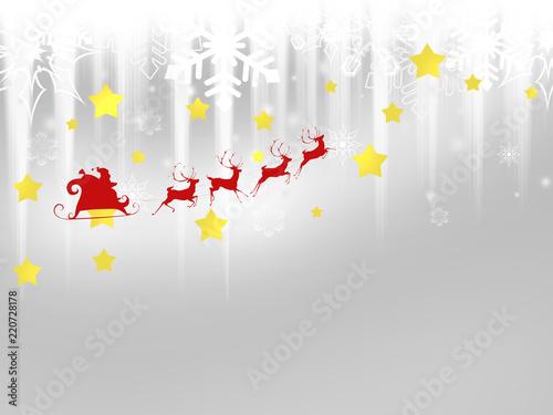 Poster Retro クリスマス クリスマス背景 クリスマスツリー サンタクロース 雪 結晶