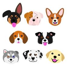Cute Pups Face Set