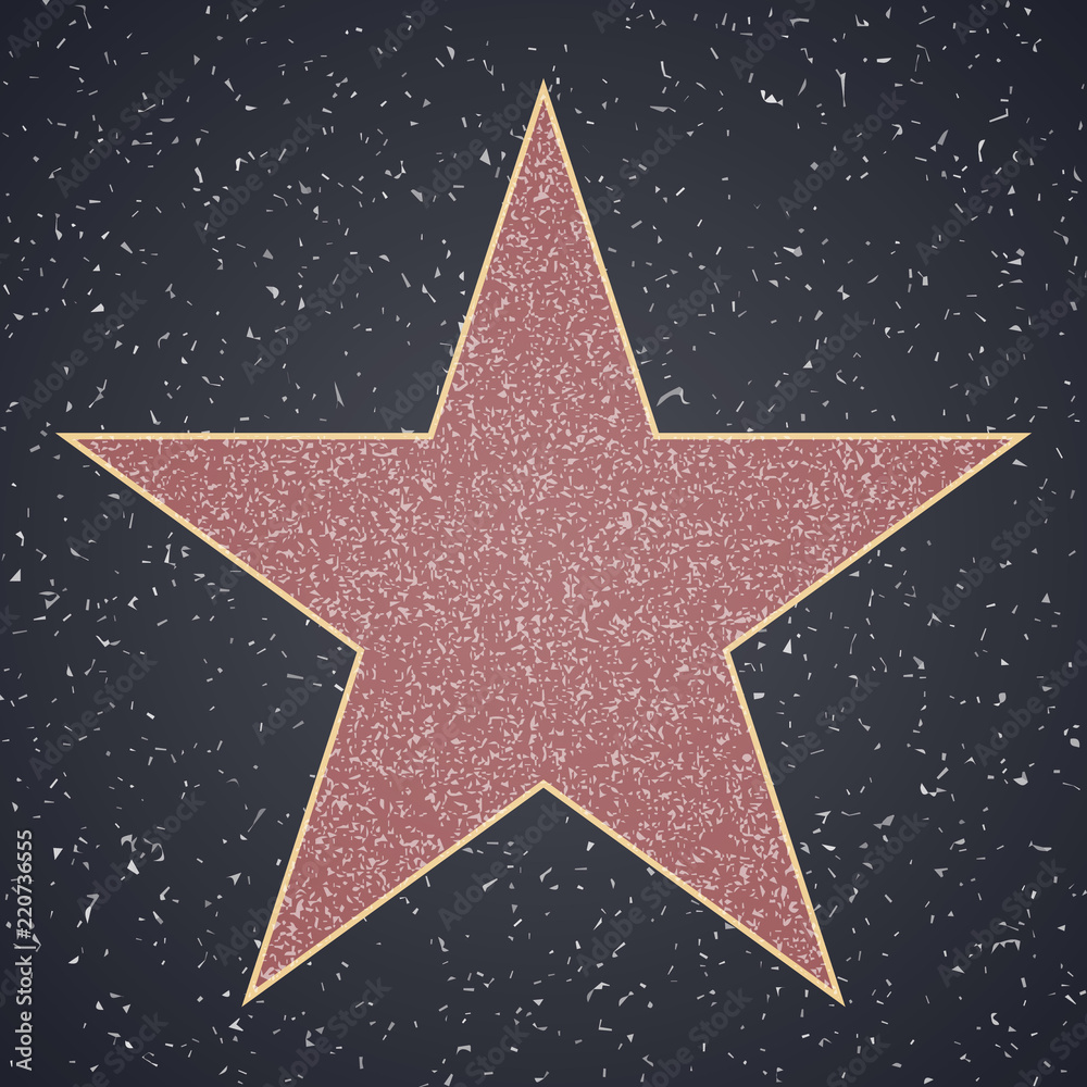 Photo  Walk Of Fame. star blank template