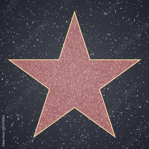 Fotomural Walk Of Fame. star blank template
