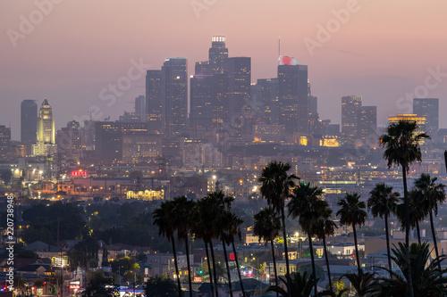 Keuken foto achterwand Amerikaanse Plekken Los Angeles downtown buildings evening
