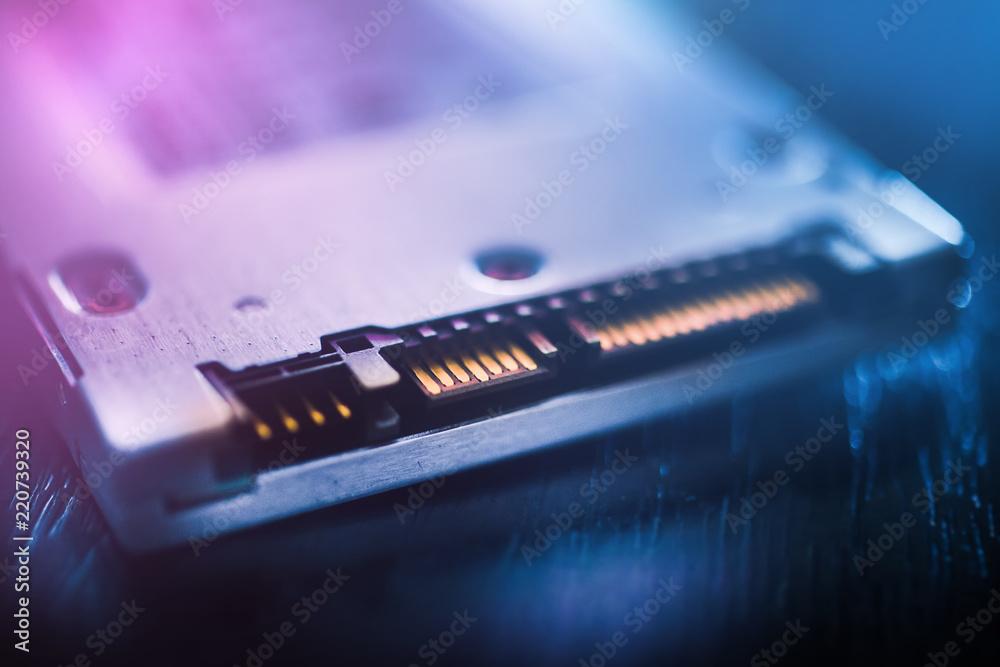 Fototapety, obrazy: SSD SATA port
