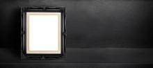 Blank Black Vintage Frame Lean...