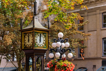 Steam-powered Clock At Gastown, A National Historic Site In Vancouver, British Columbia British Columbia, Canada