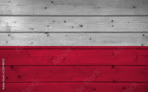 Polska - plakaty   flag-of-poland-on-wooden-background-surface-wooden-wall-planks-national-flag