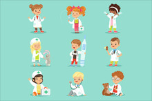 Adorable Kids Playing Doctor S...