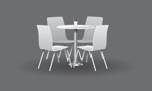 White Modern Round Table With ...