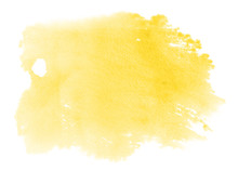 Abstract Vibrant Yellow Waterc...