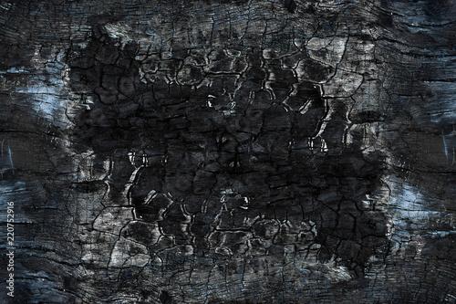 Photo sur Aluminium Texture de bois de chauffage Close up Surface of charcoal