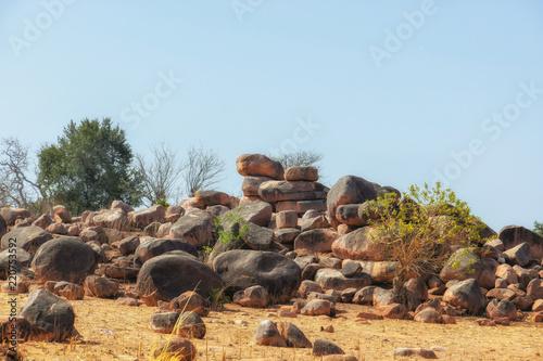 Poster Cappuccino Landscape in remote area of Wa Ghana