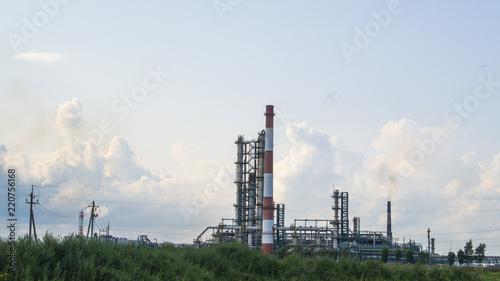 Staande foto Industrial geb. Industrial landscape of oil refinery