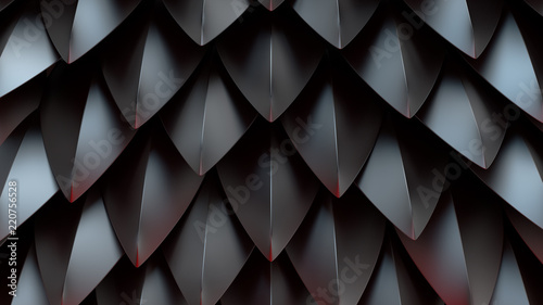 Fotografie, Obraz  3d render abstract background with spike shapes