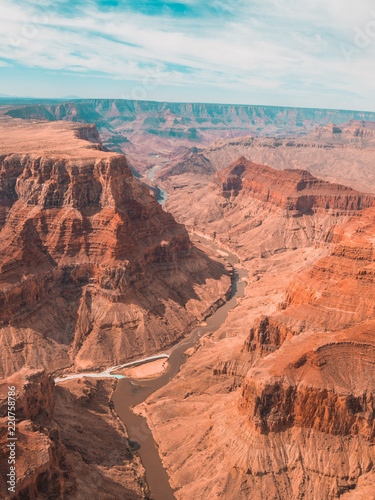 Poster Parc Naturel Grand canyon view from helicopter