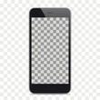 Black Smartphone Mockup Transparent