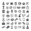 Leinwanddruck Bild - Business icons set. Icons for business, management, finance, strategy, marketing.