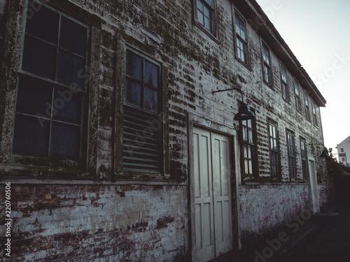 Deurstickers Rudnes Abandonded building