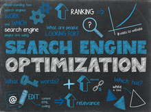 SEARCH ENGINE OPTIMIZATION (SEO) Graphic Notes On Chalkboard