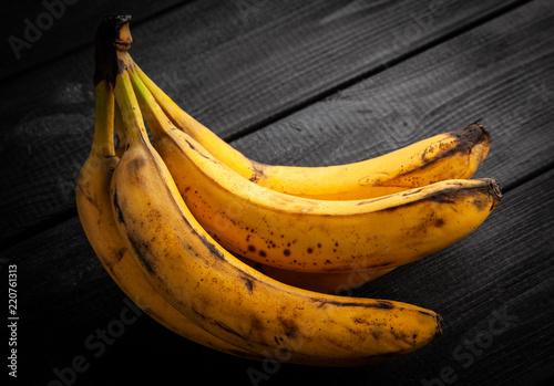 Overripe spotted bananas