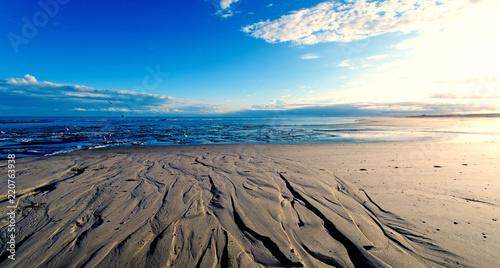 Nordsee, Strand auf Langenoog: Dünen, Meer, Ebbe, Watt, Wanderung, Entspannung, Fototapet