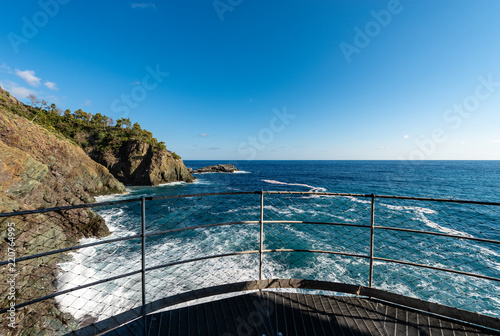 Foto op Aluminium Liguria Mediterranean Sea and Coast in Framura - Liguria Italy